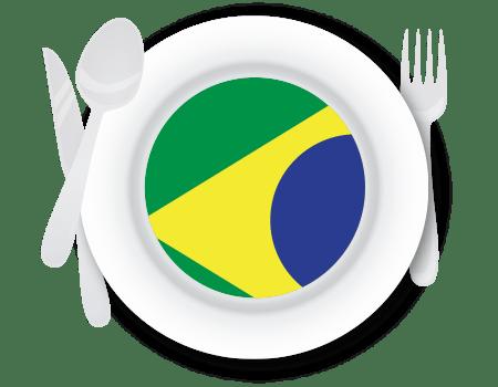 Bandeira do Brasil na Culinária