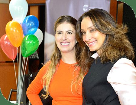 Patrícia Fonseca e Sabrina Parlatore