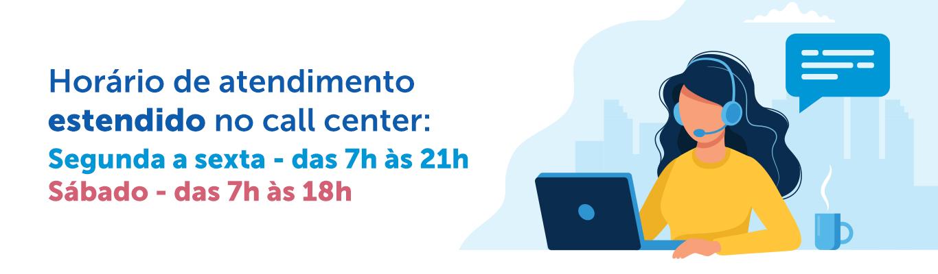novo horario call center