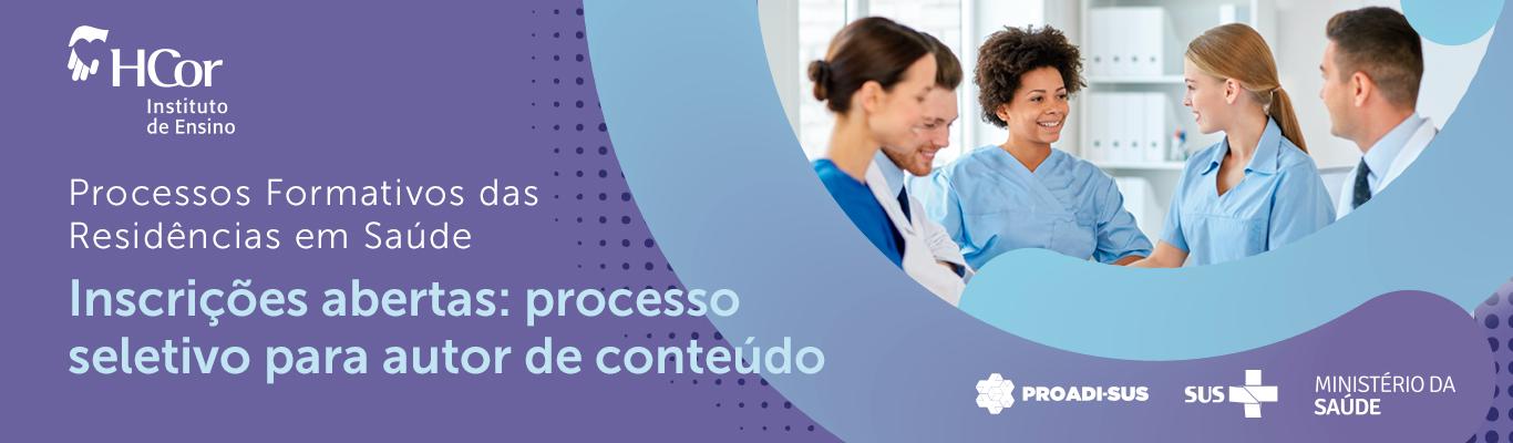 Edital para autor de conteúdo: Processos Formativos